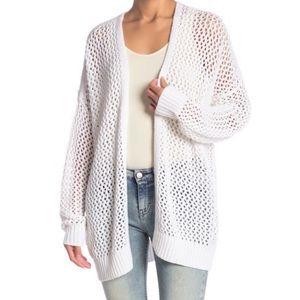 360 Sweater Small White Open Oversized Cardigan